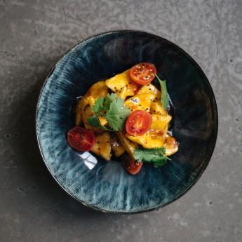 Хрусткі баклажани в соусі чилі